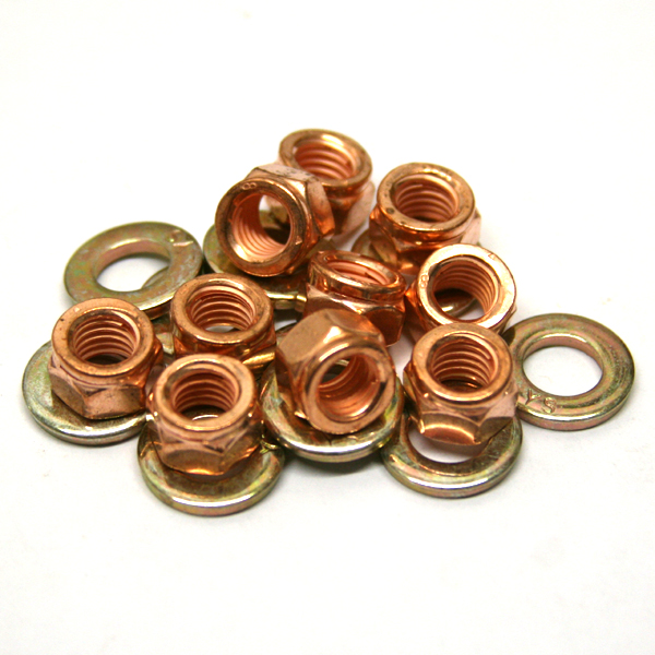 Copper Lock Washer : Mm copper locking exhaust nut washers pack